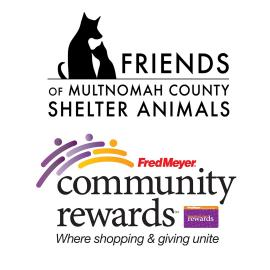 Fred Meyer Rewards and Friends of Multnomah County Shelter Animals logos